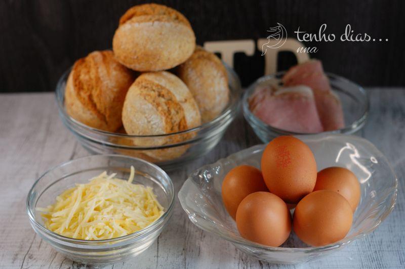 Ham and egg buns