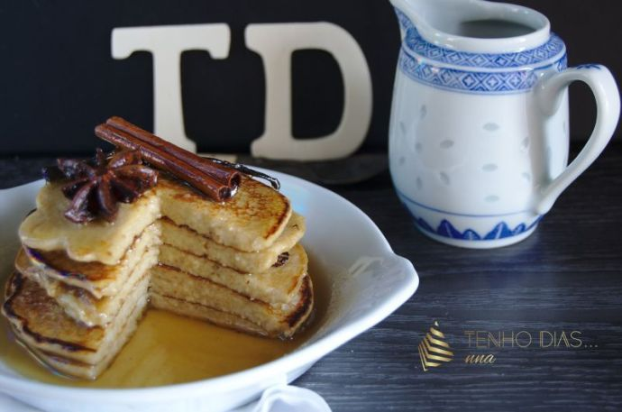 Pancakes with homemade syrup